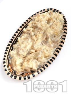 Млечна разядка / салата кьопоолу от патладжан с майонеза, кисело мляко и чесън - снимка на рецептата